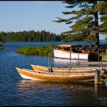 Photos of boating on Sebago Lake, Maine