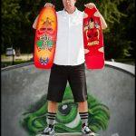 How a marketing guy unwinds: vintage skateboard replica
