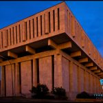 Brutalist architecture of the Empire State Plaza in Albany, NY