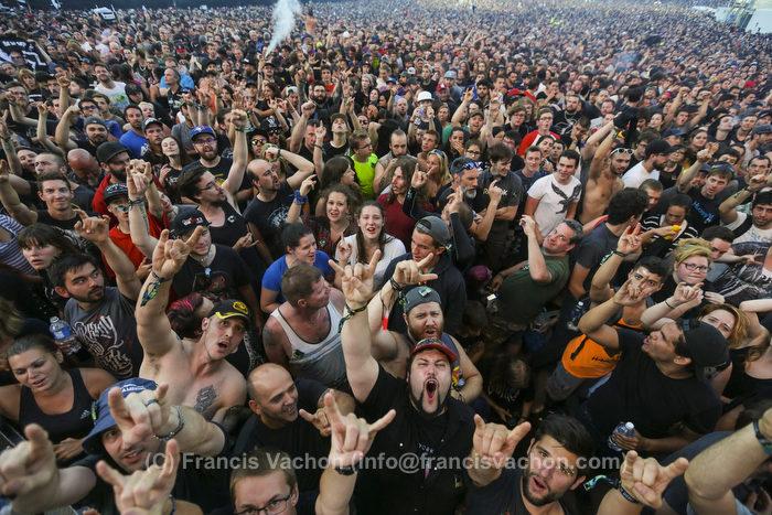 La foule avant Rammstein au Festival d'ŽtŽ de QuŽbec le 17 juillet 2016.