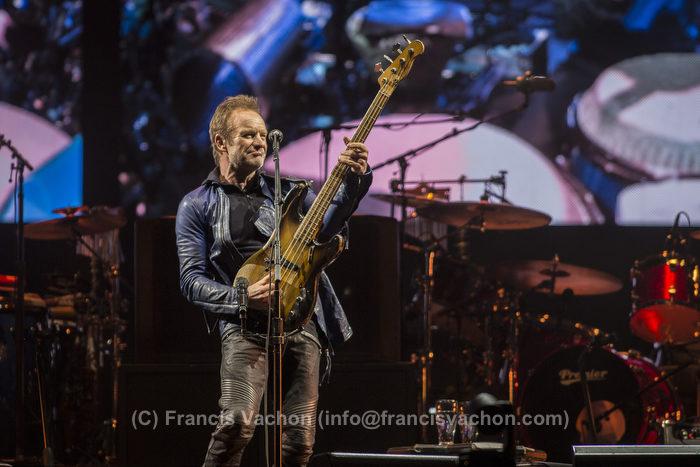 Sting et Peter Gabriel participent au spectacle d'ouverture du Festival d'été de Québec le 7 juillet 2016. Photo Francis Vachon pour Le Devoir.