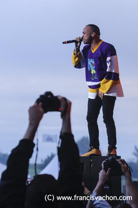 Anderson .Paak & The Free Nationals performe sur scène lors du Festival d'été de Québec