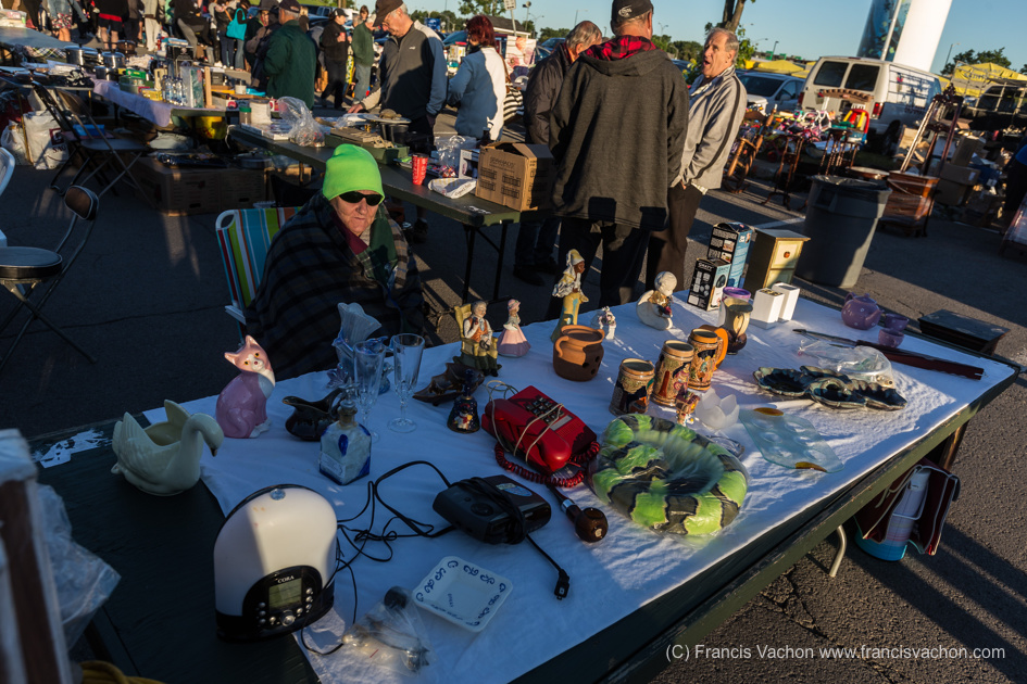 le marché aux Puces Sainte-Foy aux petites heures