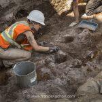 Photos: fouilles archéologiques près du presbytère de L'Ancienne-Lorette