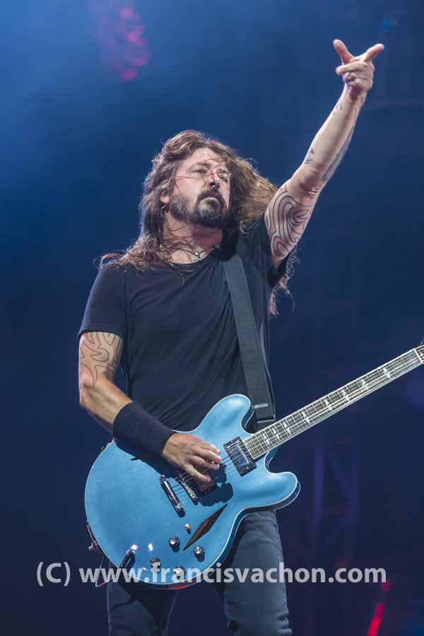 Foo Fighters au Festival d'été de Québec le 9 juillet 2018.