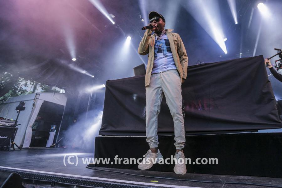 London on Da Track au Festival d'été de Québec le 12 juillet 2018.