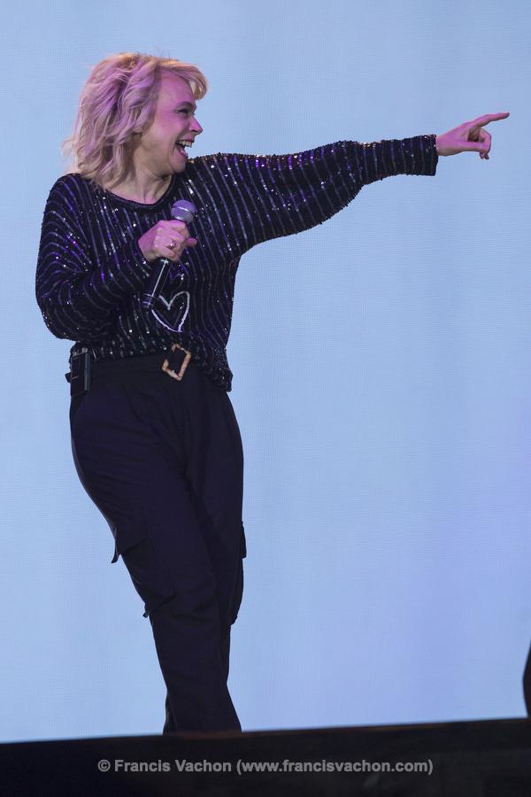 Martine St-Clair chante sur scène lors de la fête nationale du Québec sur les Plaines d'Abraham à Québec le 23 juin 2019. Photo Francis Vachon pour Le Devoir.