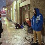 Les sans-abri sous couvre-feu