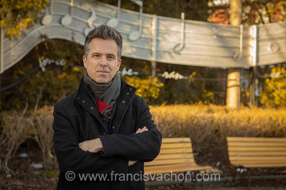 Le bédéiste Philippe Girard à Québec le 30 mars 2021.